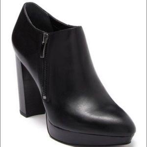 Franco Sarto Sheila Leather Platform Bootie  8.5